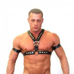 665 Neoprene Y2K Half Harness Black Medium harness in neoprene con clips