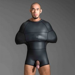 665 Neoprene Pod Suit Black sacco tuta bondage in neoprene