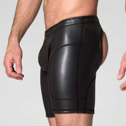 665 Neo Open Long Shorts Black calzoncini con apertura dietro in neoprene