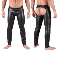 665 Neo Open Ass Pants Black pantaloni lunghi con apertura dietro in neoprene