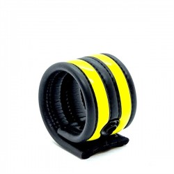 665 Neoprene Racer Ball Strap Yellow bracciale per polso in neoprene