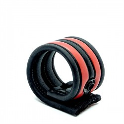 665 Neoprene Racer Ball Strap Red ballstretcher in neoprene