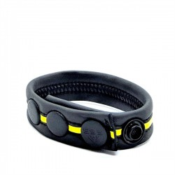 665 Neoprene Racer Gun Strap Yellow cockring & bracciale da polso in neoprene