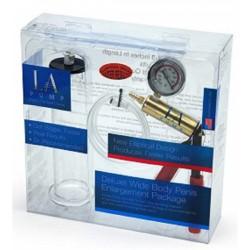 LAPD Premium Wide Body Cylinder Kit pompa con pressurometro + cilindro ellittico per sviluppare il pene