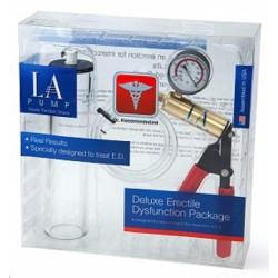 LA Pump Premium Deluxe Erectile Dysfunction Kit pompa con pressurometro + cilindro per sviluppare il pene