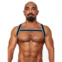 Mister B Urban Club Harness X-back Striped harness in tessuto elastico