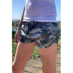 Mr Riegillio MR Camo Mini Short calzoncini in pelle artificiale