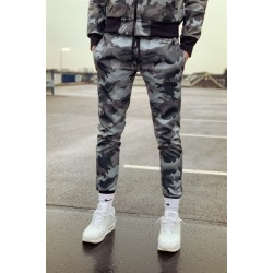 Mr Riegillio MR Camo Pants pantaloni tuta in pelle artificiale