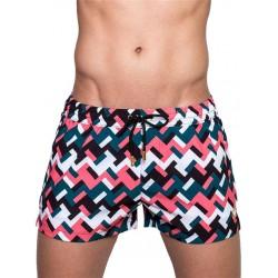 2Eros Print Euhedral Swimshorts Swimwear boxer calzoncini costume da bagno