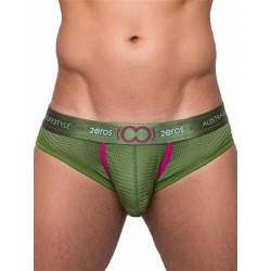 2Eros Aeolus Brief Underwear Green Gale slip