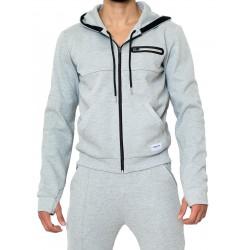 Supawear Apex Jacket Grey Marle giacca con cappuccio