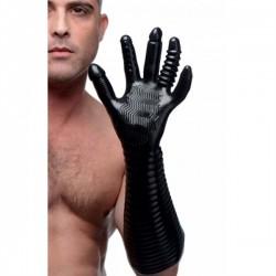 Master Series Pleasure Fister Textures Fisting Glove guanto lungo morbido con struttura per penetrare