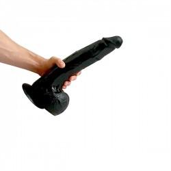 HUNG'R Dildo Taurus Black (13.70 inch) 35.00 cm. dildo XL fallo realistico Hung System