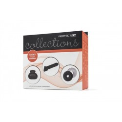 Perfect Fit Collections Luxury Kit Featuring SilaSkin confezione con guaina per il pene, borsa testicoli e 2 cockring
