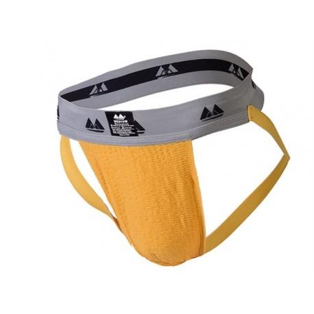 MM Jocks Adult Supporter bike style Yellow jockstrap sospensorio