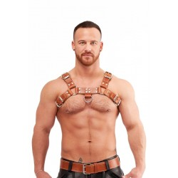 Mister B Leather Chest Harness Saddle Leather Brown harness per torace in pelle marrone