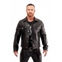 Mister B Leather Trucker Jacket giubbotto leather pelle