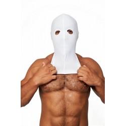 Mister B Lycra Cocksucker Hood White maschera cappuccio con fori per gli occhi
