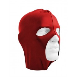 Mister B Datex Cocksucker Hood Red maschera cappuccio con fori