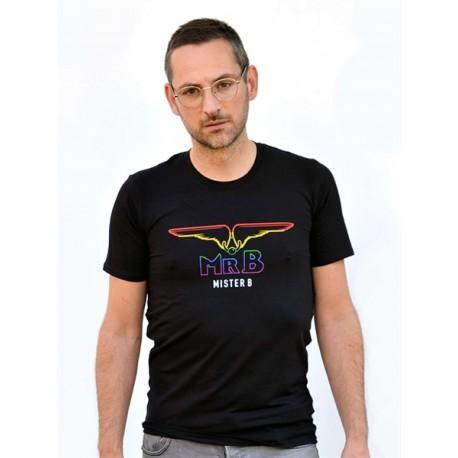 Mister B Pride Rainbow T-shirt Black maglietta logo arcobaleno gay pride