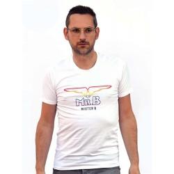 Mister B Pride Rainbow T-shirt White maglietta logo arcobaleno gay pride