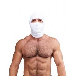 Mister B Multi Purpose Lycra Hood White maschera cappuccio in tessuto