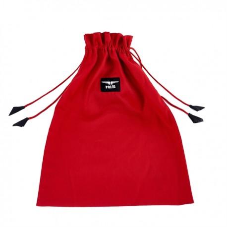 Mister B Toy Bag Red XL borsa per conservare dildo e sex toy in fibra naturale