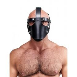 Mister B Leather Face Muzzle Harness maschera bavaglio in pelle