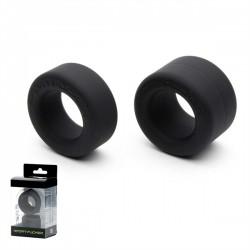 Sport Fucker Liquid Silicone Nutt Job Set Black ballstretcher in silicone 2 anelli estensibili per testicoli