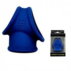 Sport Fucker Silicone Cock Tube Blue cockring & ballstretcher in silicone estensibile