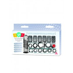 Icon Brands Try-Curious Cock Ring & Sleeve 15-piece Kit 15 cockrings anelli per il pene & ballstretcher