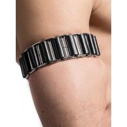 Mister B Armband Linked multiuso bracciale multiuso per avambraccio polso collo leather pelle