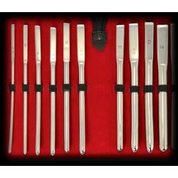 Black Label 10 Pieces Stainless Steel Sounding Set 5-14 mm. 10 sonde uretrali da 5 a 14 mm. in acciaio inox