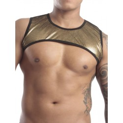 GB2 Mateo Harness Metallic Gold harness in tessuto