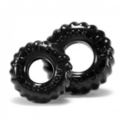 Oxballs TRUCKT 2 pack cockring Black confezione con 1 cockring e 1 ballstretcher