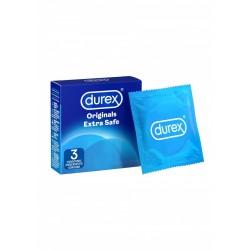 DUREX Originals Extra Safe 3 pz. profilattici preservativi 56 mm. extra lubrificati con lubrificante a base di silicone