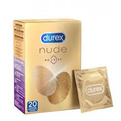 DUREX Condoms Nude No Latex 20 pz. profilattici preservativi senza lattice ultra sottili