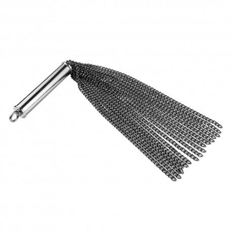 Black Label Chain Whip With Built In Plug Black frusta in metallo con plug nascosta