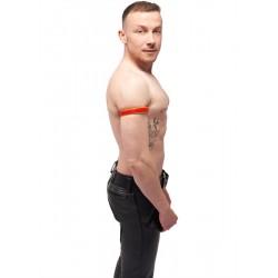 Mister B Leather Circuit Biceps Band Red Yellow bracciale per avambraccio bicipite in pelle