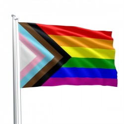 Mister B Progress Pride Flag 90 x 150 cm bandiera Pride Pride