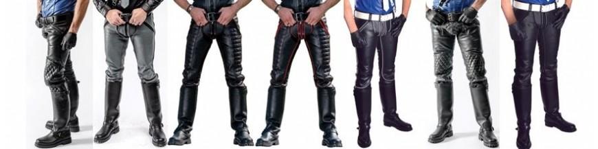 pantaloni e chaps leather pelle