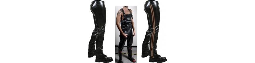 pantaloni chaps tute rubber latex e neoprene